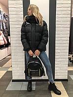 Куртка с лаком черная 726