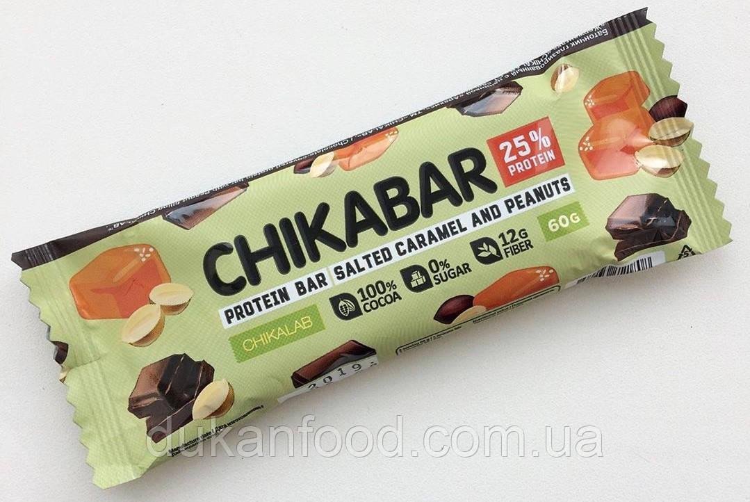 Протеиновый батончик Chikabar, Арахис с карамельной начинкой, Chikalab