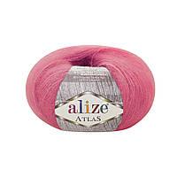 Пряжа Alize Atlas 149 фуксия (нитки для вязания Ализе Атлас) 49%шерсть, 51%полиестер