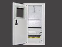 Вмонтированный металический распределителный шкаф на 8 автоматов для однофазного счетчика