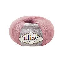 Пряжа Alize Atlas 246 роза (нитки для вязания Ализе Атлас) 49%шерсть, 51%полиестер
