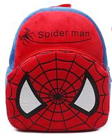 Рюкзак детский плюшевый Spiderman 1-3 года подарок для мальчика Человек - паук Disney