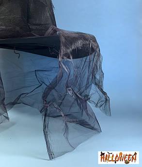 Ковпак відьми зношений чорний з фатином, фото 2