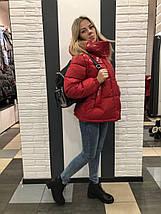 Куртка с лаком красная 726, фото 3
