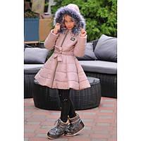 Куртка пальто зимняя для девочки Колокольчик детская, фото 1
