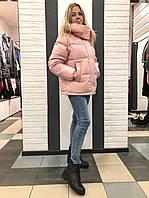 Куртка с лаком розовая 726