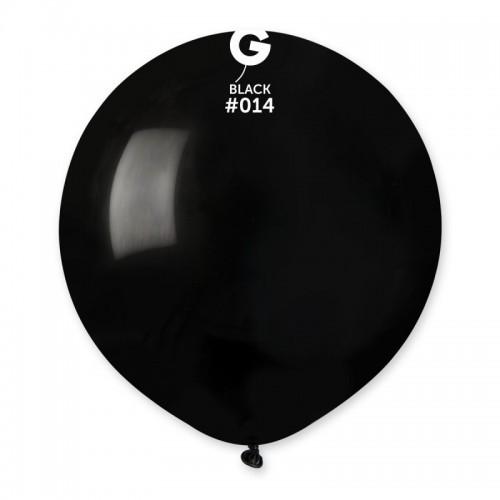 """Латексна кулька пастель чорний 19""""/ 14 / 48см Black"""