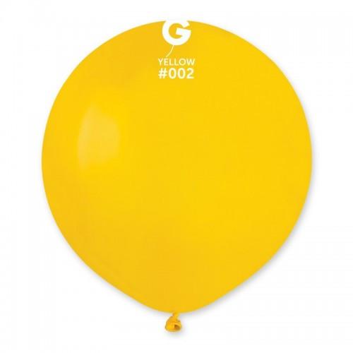 "Латексный шар пастель желтый 19""/ 02 / 48см Yellow"