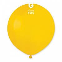 "Латексна кулька пастель  жовтий  19""/ 02 / 48см Yellow"