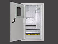 Металлический ящик под счетчик под 10 автоматов накладной ШМР-1Ф-10+УзоН-ЭЛ