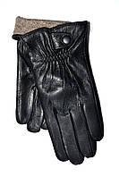 Мужские кожаные перчатки на шерсти(сетка) оптом