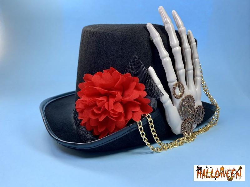 Цилиндр с рукой скелета