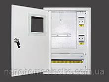 Вмонтированный металический шкаф на 16 автоматов для однофазного счетчика