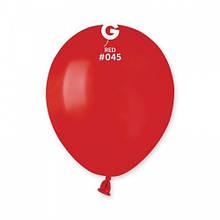 """Латексна кулька пастель червоний 5"""" / 45 / 13см Red"""