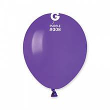 """Латексна кулька пастель фіолетовий 5"""" / 08 / 13см Purple"""