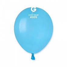 """Латексный шар пастель голубой 5 """"/ 09 / 13см Light Blue"""