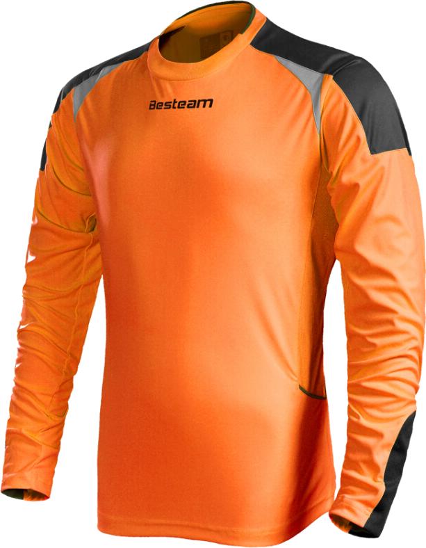 Кофта вратарская BesTeam с защитой оранжевый