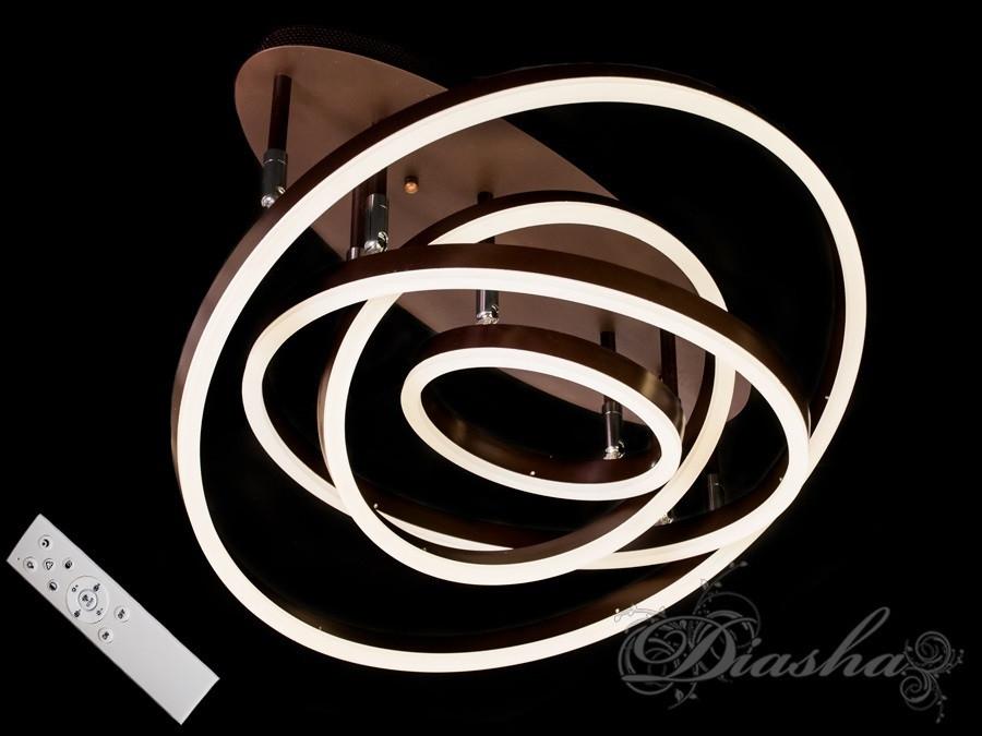 Стельова LED-люстра з діммером 55010/4CF dimmer