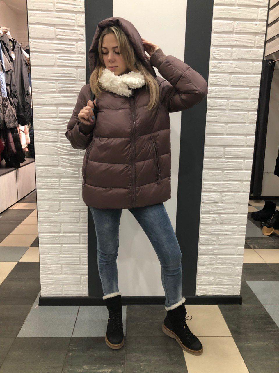 Куртка женская пепел-роза Clasna 117
