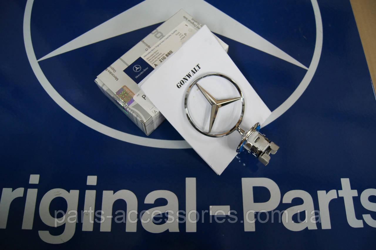 Mercedes E W211 W210 W124 S W220 C W202 W 203 значок эмблема штерн прицел на капот новый оригинал
