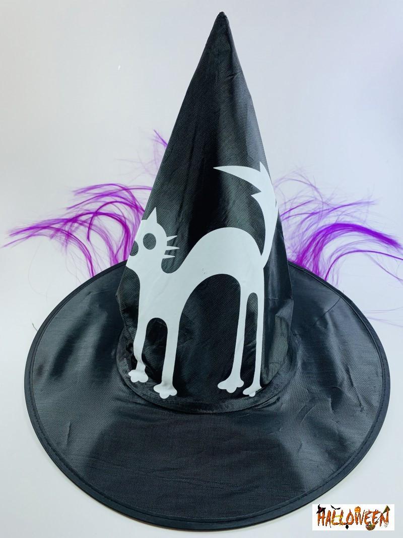 Колпак ведьмы с фиолетовыми волосами