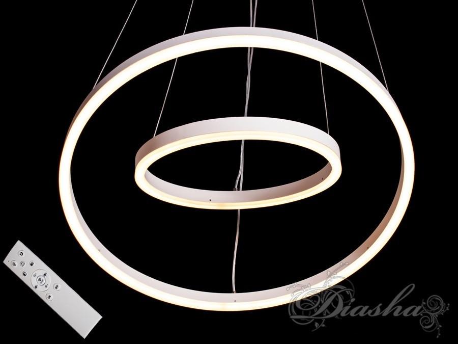 Современная подвесная светодиодная люстра MD55000-2WH dimmer