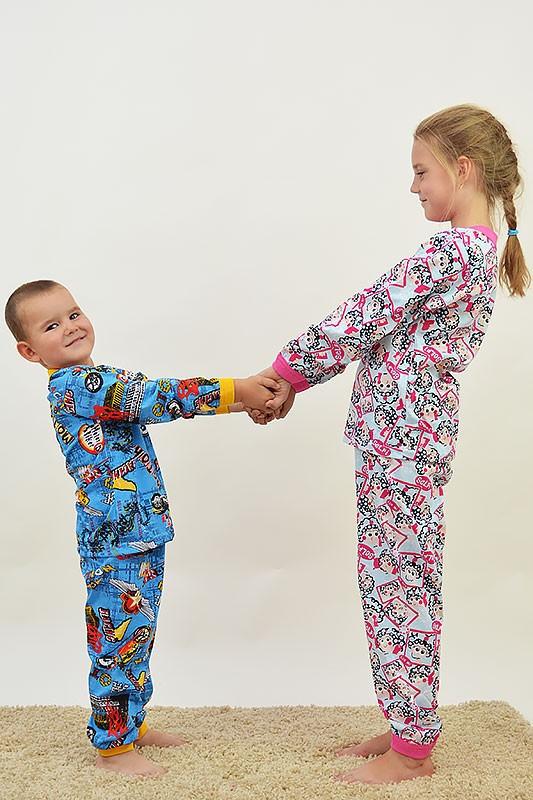 Детская пижама для мальчиков (100% хлопок)