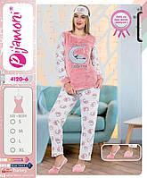 Женская махровая пижамка с тапочками и ночником ) Турция