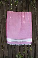 Рушник Lotus Pestemal - Pink 01 75*150 Simple stripe