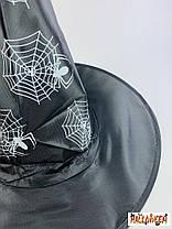 Колпак ведьмы с белыми/золотыми пауками, фото 3