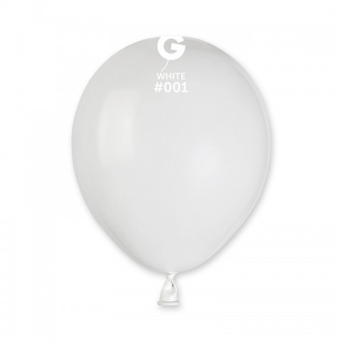 "Латексна кулька пастель білий 5"" / 01 / 13см White"