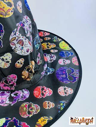 Колпак ведьмы с гламурными черепами, фото 2