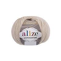 Пряжа Alize Lanacoton 67 молочно-бежевый ( нитки для вязания Ализе Ланакотон, Ализе Лана Коттон)