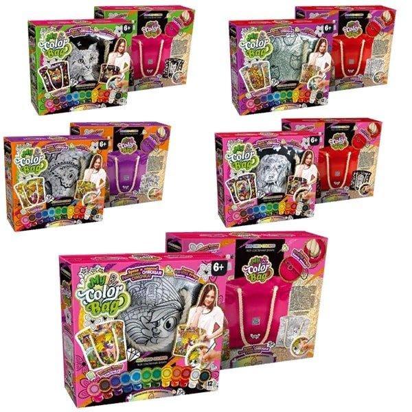 """Набір креативної творчості """"My Color Bag"""" сумка-розмальовка (5), CОВ-01-01, 02, 03,04,05"""