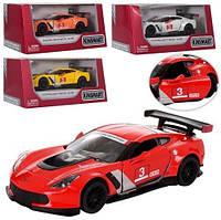 """Модель легковая 5""""  Corvette C7.R Race Car метал.инерц.откр.дв.4цв.кор.ш.к./96/"""