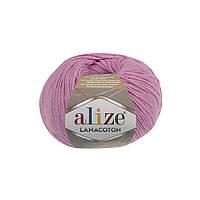 Пряжа Alize Lanacoton 98 розовый ( нитки для вязания Ализе Ланакотон, Ализе Лана Коттон)