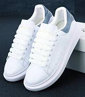 Женские кроссовки Alexander McQueen Oversized Sneaker White/Grey