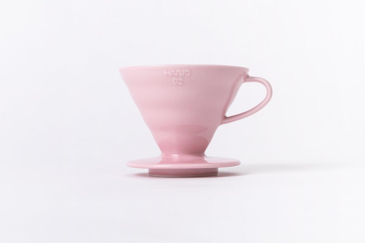 Пуровер Hario V60 02 Pink (600 мл) для заваривания фильтр-кофе