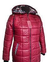 Женское стёганное пальто батал 54,58