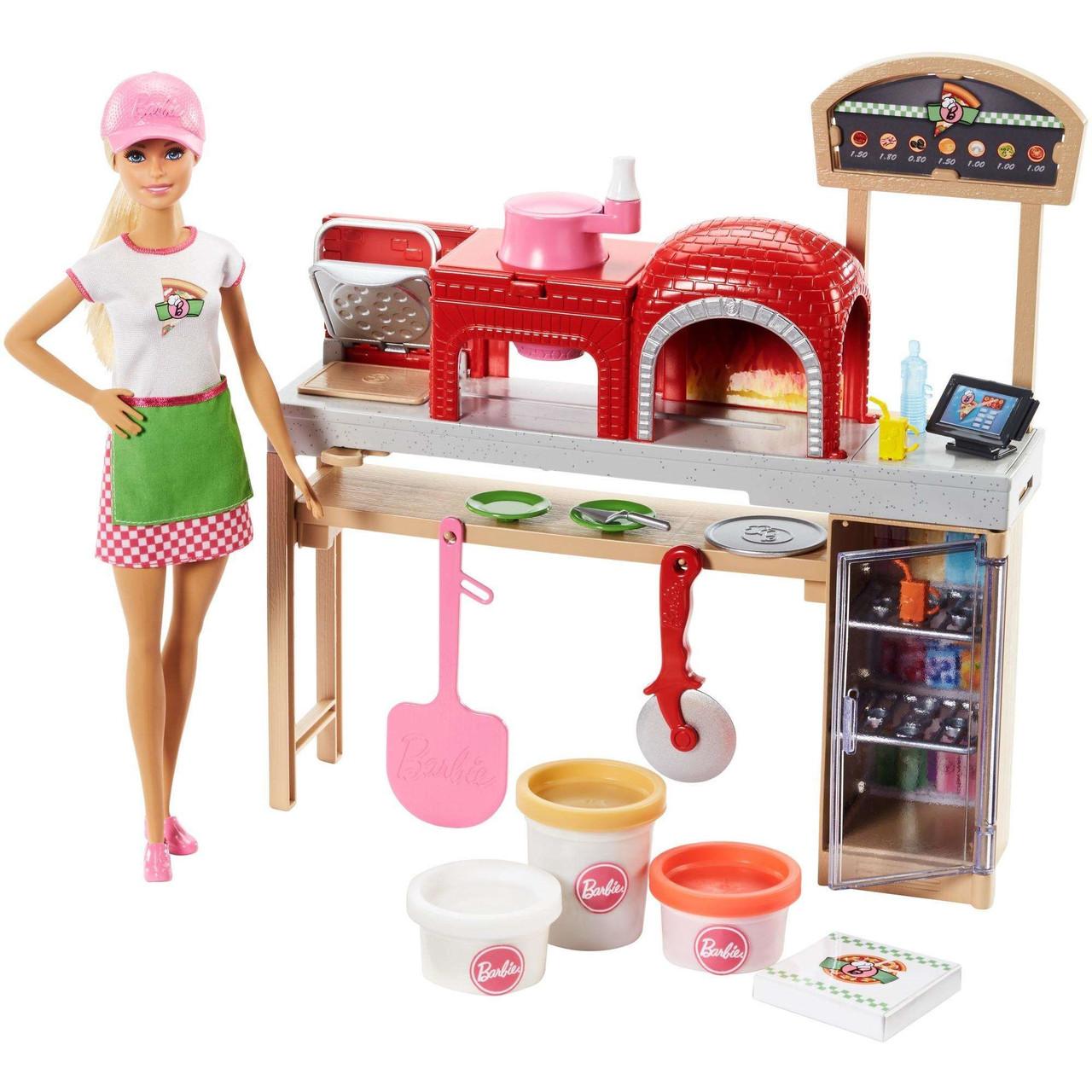 Барби Повар Пиццерии Barbie Cooking & Baking Pizza Making Chef Doll & Play Set