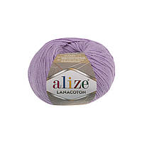 Пряжа Alize Lanacoton 166 лиловый ( нитки для вязания Ализе Ланакотон, Ализе Лана Коттон)