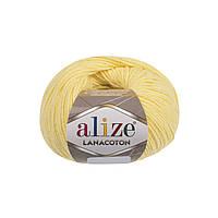 Пряжа Alize Lanacoton 187 светло-желтый ( нитки для вязания Ализе Ланакотон, Ализе Лана Коттон)