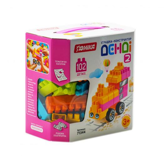 Детский пластиковый конструктор для детского творчества 102 детали.Конструктор детский блочный.
