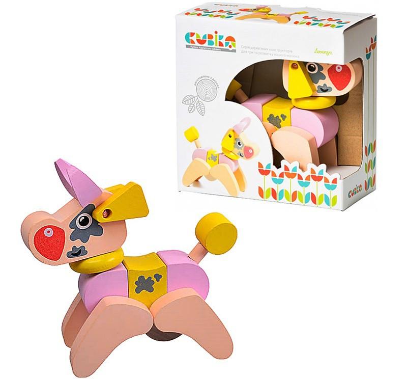 Дерев'яна іграшка Cubika Корівка-акробат LA-4 (12442) (4823056512442)