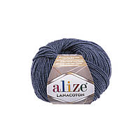 Пряжа Alize Lanacoton 203 джинс меланж ( нитки для вязания Ализе Ланакотон, Ализе Лана Коттон)