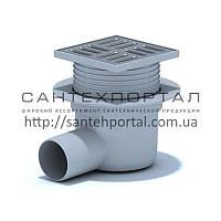 Трап вертикальный ANI Plast (TA5602) регулируемый, выпуск 50 мм с нержавеющей решеткой 10x10 см