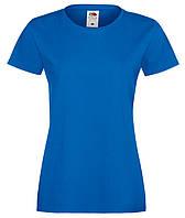 Синяя женская футболка (Премиум)