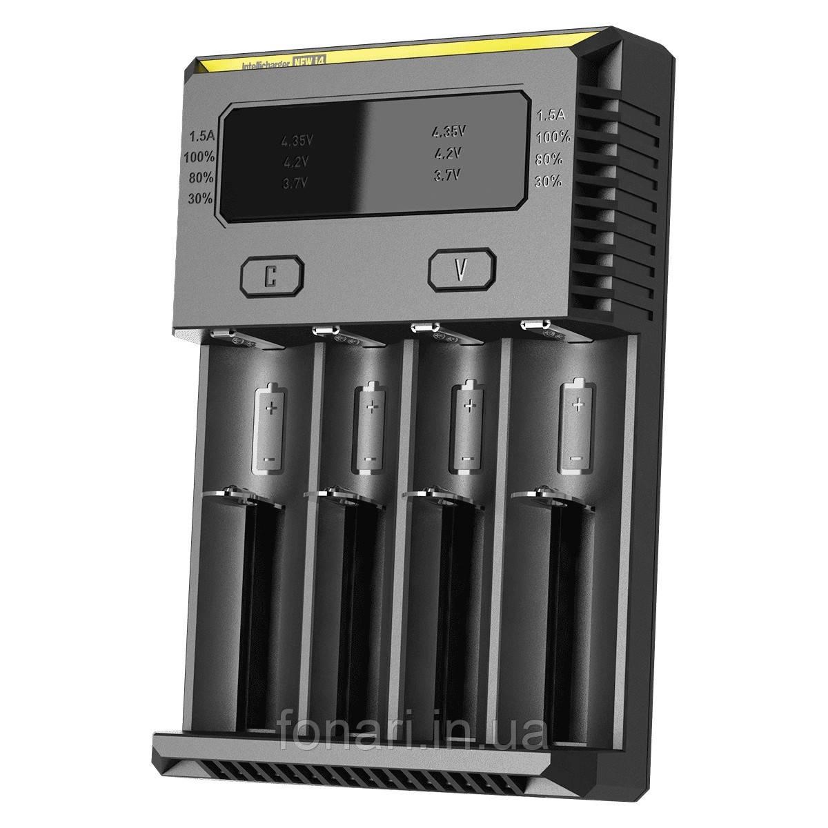 Nitecore Intellicharger i4 NEW - Зарядное устройство  для Li-Ion/Ni-Mh (Оригинал)