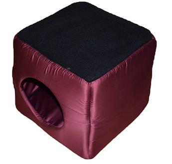 Дом-лежак для котов и собак 40*35 Бордо