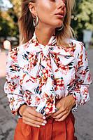 Женская блуза с бантом